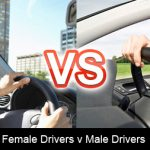 How do male and female drivers perceive the driving ability of the other gender?
