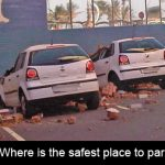 Where is the safest place to park to avoid parked car insurance claims?