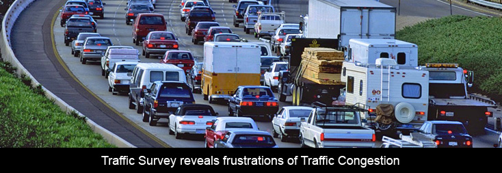 traffic survey report Report authors said the costs come from wasted time and fuel and from indirect costs, such as increases in household prices when freight trucks get stuck in traffic.