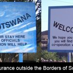 Is your car insured when driving across the borders of South Africa?