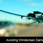 How can my driving help to avoid windscreen damage?