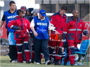 Assistance rendered at the Coca-Cola Craven Week in photo by Dense Lups/ Phototalk