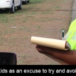 Do not use your kids as an excuse to try and avoid the traffic fine!