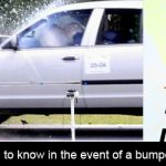 What do we need to know in the event of a bumper bashing collision?