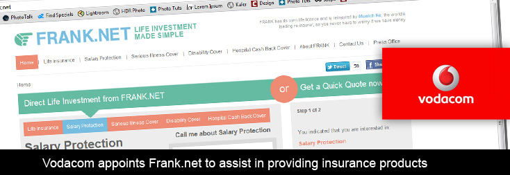 Vodacom appoints to assist in offering insurance for Www frank