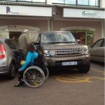 Stay out of the disabled parking bay if you are not disabled!!