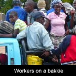 How many workers my I carry on my 1 ton Toyota bakkie before overloading the bakkie?
