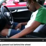 Video captures alleged drunk driver passed out at traffic light in Durban
