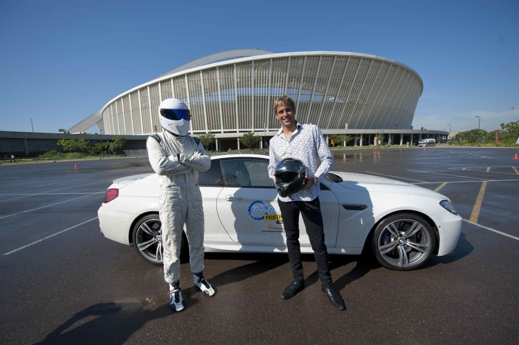 the stig hits durban 39 s streets ahead of this year 39 s top gear festival insurance chat. Black Bedroom Furniture Sets. Home Design Ideas