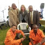 Correctional services minister hands over wheelchairs assembled by offenders