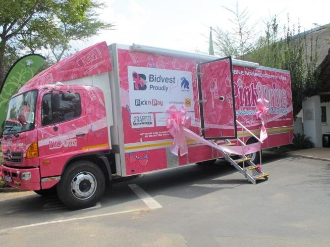 The PinkDrive organisation has taken over this Hino-based mobile mammography unit to use in its fight against breast cancer. The handover took place in Johannesburg recently.