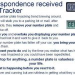 "Do not fall prey to the ""numberplate"" hijackers!"