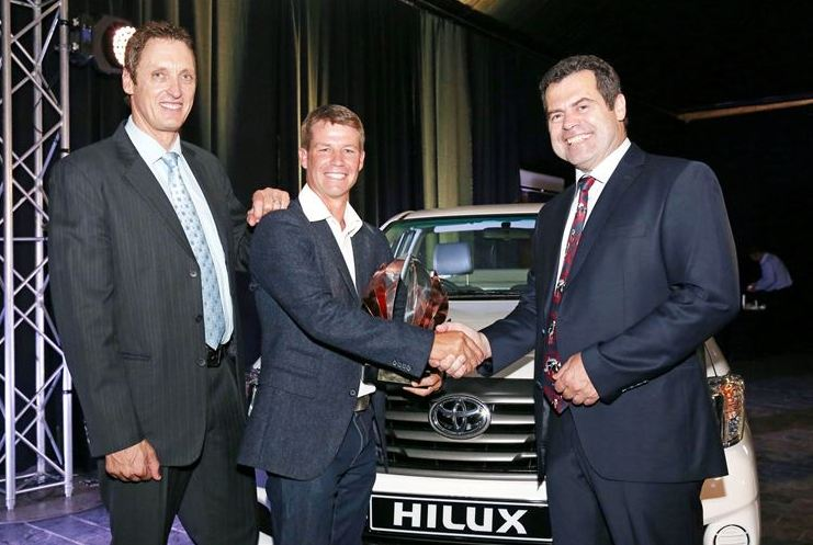 Young farmer of the year vehicle handover