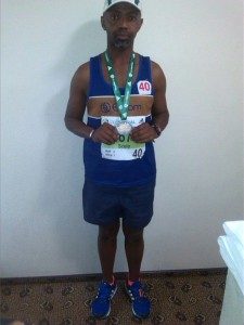 Scelo with his Two Oceans Marathon medal
