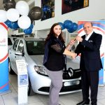Festive Cheer for lucky Imperial employee receiving vehicle from CEO Mark Lamberti