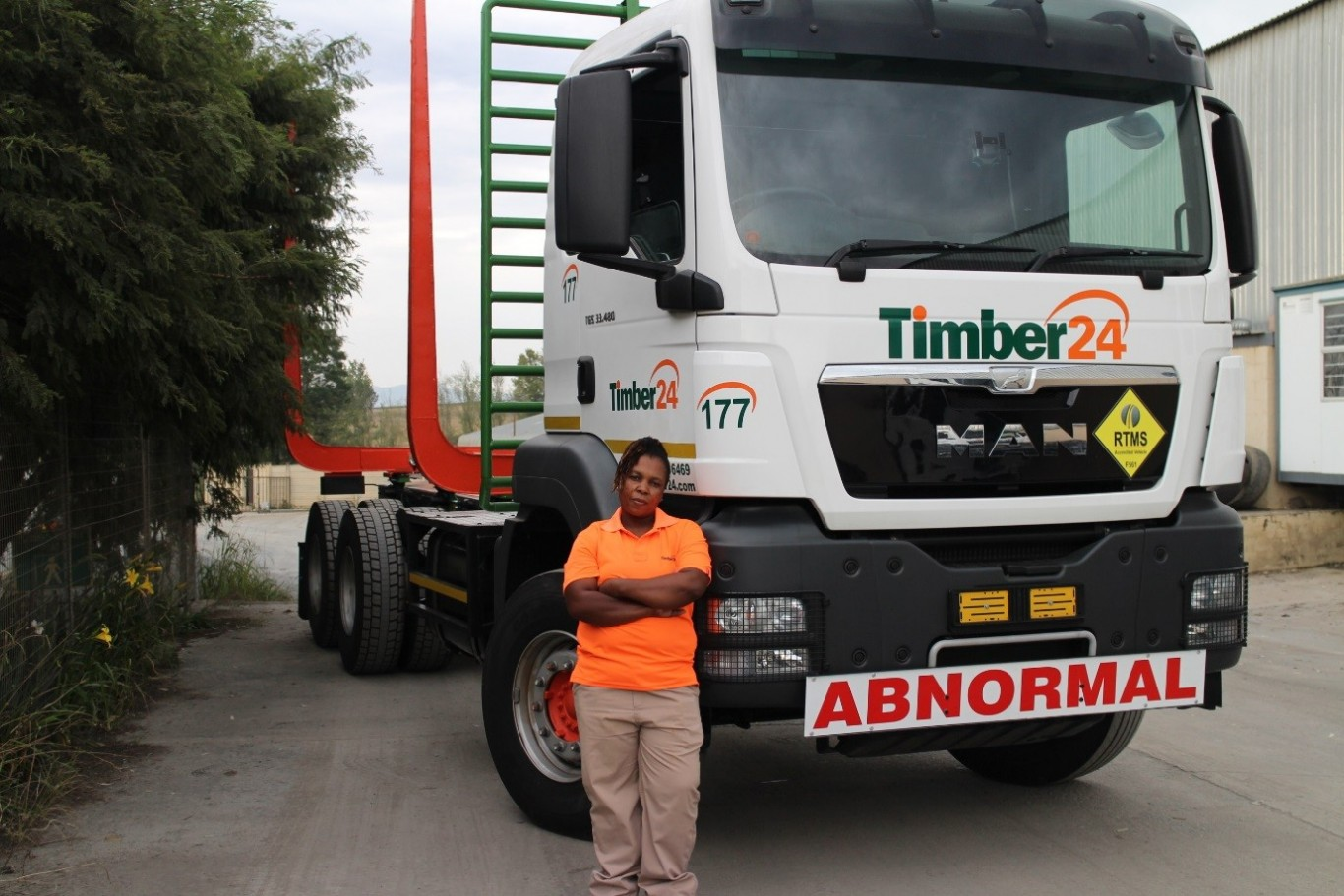 READY TO TAKE ON THE WORLD: Khonelaphi Khangwayini Ngubane's determination to break away from cultural norms and pursue a fulfilling career as a truck driver has gained the full support of her family while her male counterparts look up to her with utmost admiration and respect.