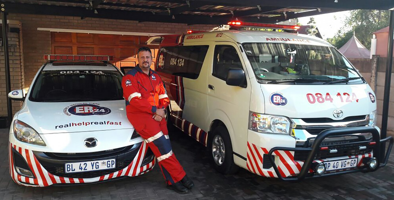 Meet Lourens Smit, an Advanced Life Support paramedic, who is part of the ER24 Rustenburg team.