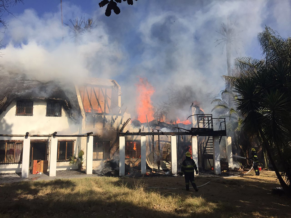 Severe damage to property in house fire in Honeydew
