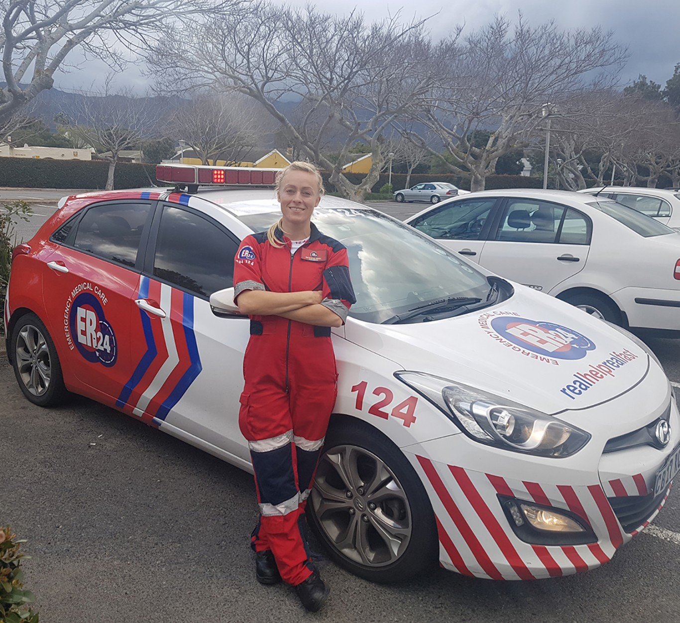 Natasha Kriel, dedicated to saving lives whether out on the roads as an operational paramedic or at the ocean.