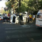 13 injured after taxi overturned, Johannesburg
