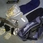 Robbery suspects escape in chase leaving behind weapon and ammunition etc