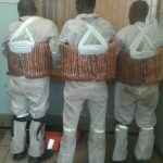 Three suspects arrested for copper cable theft.