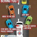 Remember to make way for our Emergency services and help save lives