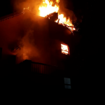 One injured in a fire at a complex in Magaliessig