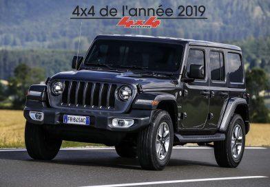 """New Jeep Wrangler is """"4×4 de l'Année 2019"""""""