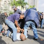 Independent Media journalist manhandled by Metro cops at Gumede protest