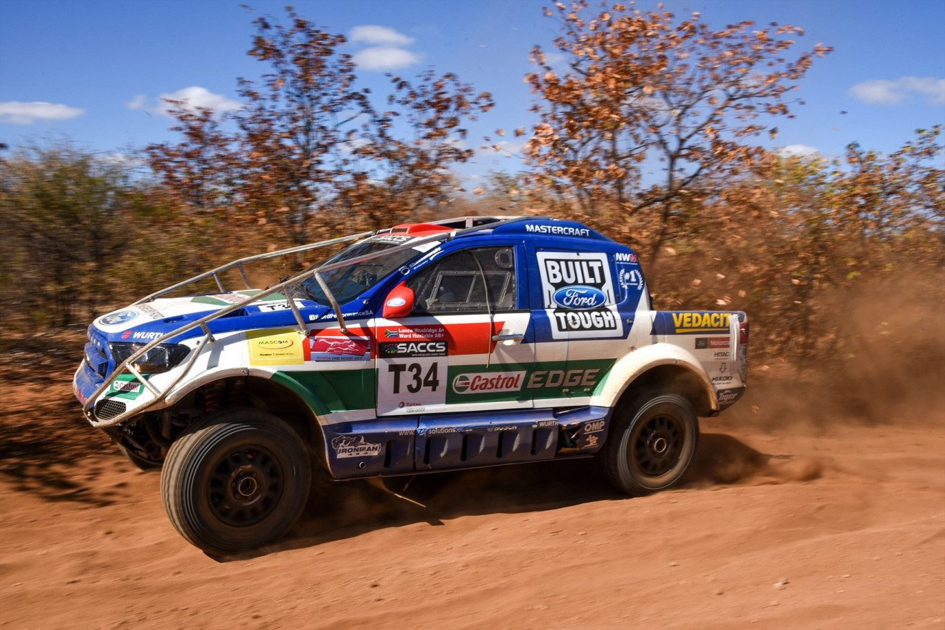 Ford Castrol Cross Country Team In Charge Of Class T