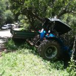 One injured after a tractor overturned in Pretoria