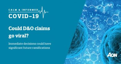 Could Directors and Officers Liability Cover claims go viral following actions taken during COVID-19 pandemic?