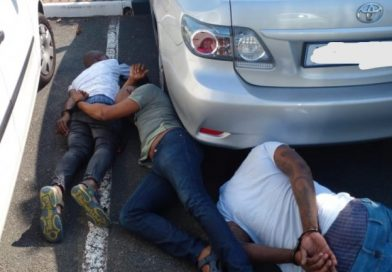 Suspects nabbed in the act attempting to steal vehicle